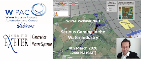 WIPAC Webinar No.3 – Serious Gaming in the Water Industry.